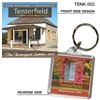 The Tenterfield Saddle 1870' - 40mm x 40mm Keyring  TENK-002