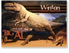Winton, Big Al Dinosaur - Standard Postcard  WIN-004