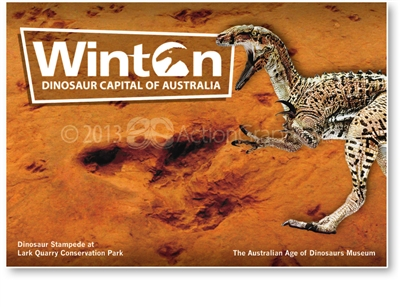 Winton Dinosaur Capital of Australia - Large Postcard  WIN-006b-LP