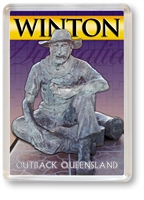 Winton Jolly Swagman - Framed Magnet WINFM-004