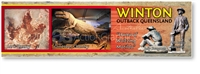 Winton Dinosaur & Home of Waltzing Matilda - Long Magnets  WINLM-097