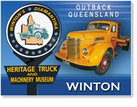 Winton Heritage truck Museum - Small Magnets  WINM-001