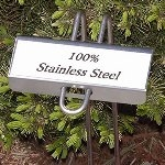 P-style stainless steel garden markers