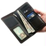 Guard Dog Premium Lthr RFID Block Ultra Slim Lrg Wallet BLK
