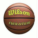 Wilson Evolution Official Size Game Basketball-Yellow