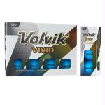 Volvik Vivid 3 Pc Golf Balls - Matte Blue