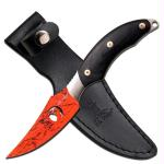 Elk Ridge Fixed Knife 8in - 3.5in SS Red Camo SS Bld w/Logo