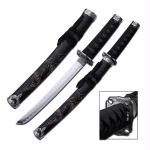 Master Cutlery 21in Carved Dragon Tanto Blade Sword-Scabbard