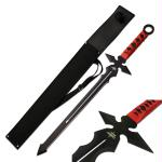 Fantasy Master Short Blade Sword 26in Overall w/ Red Handle