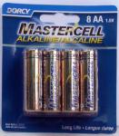 Dorcy Mastercell Alkaline AA Battery 8 Per Card