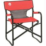 Coleman Chair Steel Deck W Mesh Red/Grey/Black 2000019421