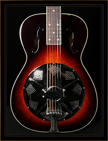 Beard Birch RFB Biscuit Bridge Roundneck Resonator with Fishman Electronics