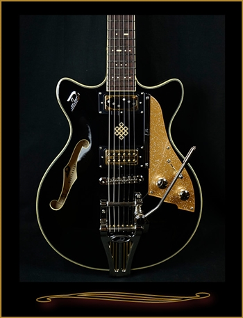 Duesenberg Joe Walsh Signature in Black at The Guitar Sanctuary McKinney Texas