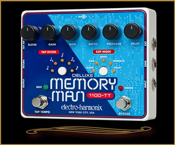 Electro Harmonix Deluxe Memory Man 1100-TT with Tap Tempo at The Guitar Sanctuary McKinney Texas