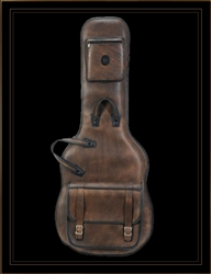 Levy's Leathers LM18D-DBR Distressed Leather Electric Guitar Gig Bag in Brown