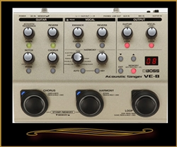 Boss VE-8 Acoustic Singer Preamp-Vocal Effects-Looper Pedal at The Guitar Sanctuary McKinney Texas