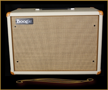 Mesa Boogie Compact 1x12 Widebody Closed Back Cabinet in Cream Bronco with Tan Jute Grille