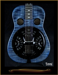 Beard E-Model Squareneck Resonator in Denim Blue with Fishman Electronics