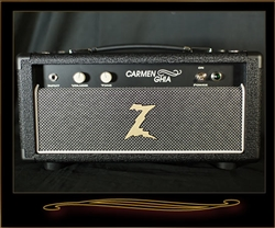Dr. Z Carmen Ghia Head in Black with Salt and Pepper Grille