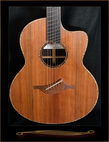 Lowden F-50CFF Fan Fret in African Blackwood with Sinker Redwood Top