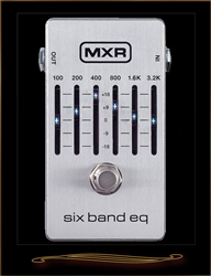MXR M109S Six Band EQ Pedal in Silver