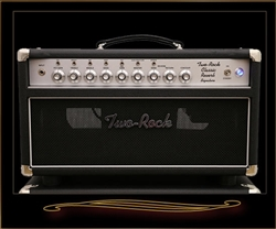 Two-Rock Classic Reverb Signature 100 W Head with Silver Chassis and Knobs
