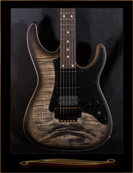 Tom Anderson Guardian Angel in Satin Natural Black Burst with Binding