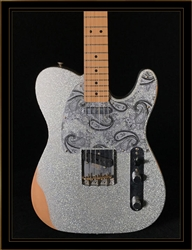 Fender Brad Paisley Road Worn Telecaster in Silver Sparkle