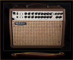 Mesa Boogie Rosette 300 Two:Eight Acoustic Combo in Cocoa Bronco with Wicker Grille