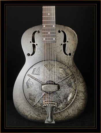 National Reso-Phonic NRP B Series 14 Fret Resonator in Black Rust