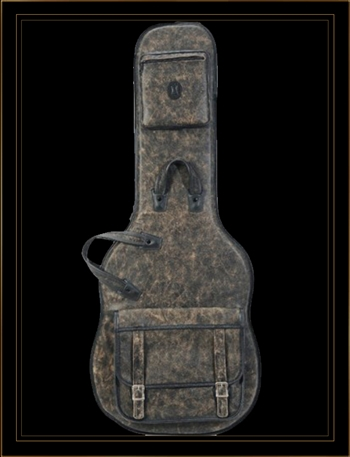 Levy's Leathers LM18B-BLK Distressed Leather Electric Guitar Gig Bag in Black