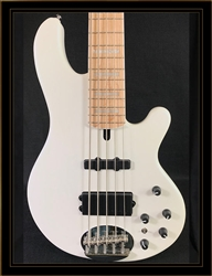 Lakland Skyline 55-02 in Pearl White with Matching Headstock