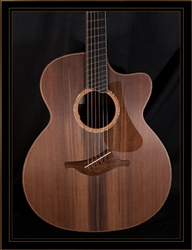 Lowden O-50C Fan Fret in Guatemalan Rosewood with Sinker Redwood Top