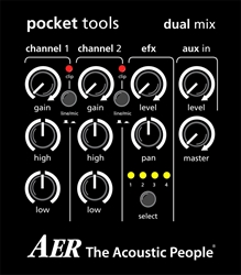 AER Dual Mix 2 Preamp for Acoustic Guitar