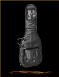 Reunion Blues Sonoma Solid Body Black Leather Electric Guitar Bag at The Guitar Sanctuary McKinney Texas