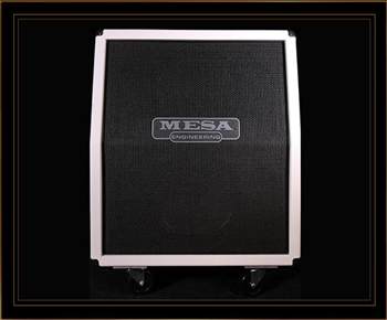 Mesa Boogie 2x12 Rectifier Vertical Slant Cabinet in Hot White with Black Jute Grille