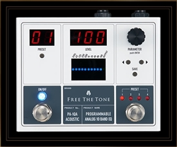 Free The Tone PA-1QA Programmable Analog 10 Band EQ Pedal for Acoustic Guitar