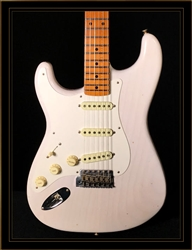 Fender Custom Shop Lefty 1956 Journeyman Relic Stratocaster in Aged White Blonde