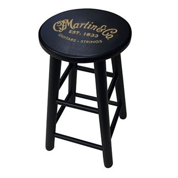 Martin Wooden Player's Stool in Black with Gold Logo