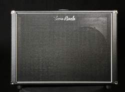 Two-Rock Silver Sterling Signature Horizontal 2x12 Cabinet in Black Bronco with Black Grille