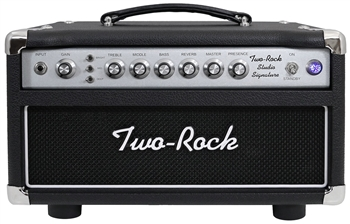 Two-Rock Studio Signature Head in Black with Silver Anodized Chassis