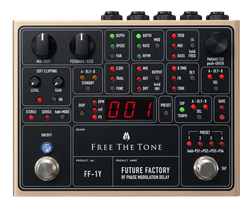 Free The Tone FF-1Y Future Factory RF Phase Modulation Delay Pedal