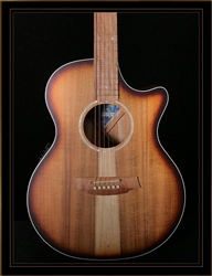 Cole Clark Angel 2EC with Australian Blackwood Top Back and Sides in Sunburst