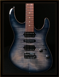 Suhr Modern Plus in Faded Transparent Whale Blue Burst with Pau Ferro Fingerboard