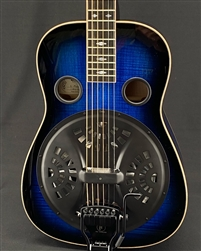 Beard E-Model Squareneck Resonator in Midnight Blue with Doubleshot Bridge
