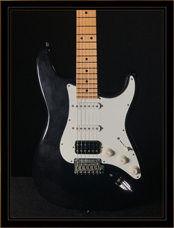 Suhr Classic S Antique in Black with HSS Pickup Configuration and Maple Fretboard