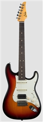 Suhr Classic S Antique in 3-Tone Sunburst with HSS Pickup Configuration and Rosewood Fretboard