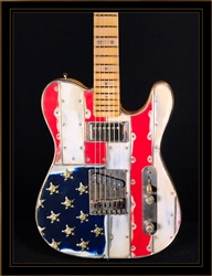 McSwain Guitars Red White & Bullets Model T