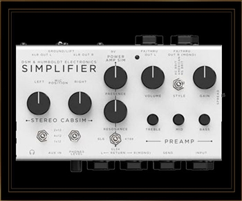DSM & Humboldt Simplifier Zero Watt Amplifier and Cabinet Simulator
