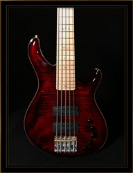PRS Gary Grainger 5-String in Fire Red Burst with Ten Top